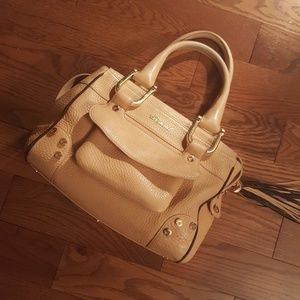 Chopard Bags - CHOPARD cream calf skin leather satchel.
